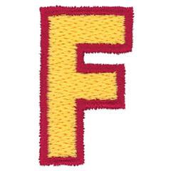 2 Color Alphabet F embroidery design