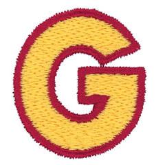2 Color Alphabet G embroidery design