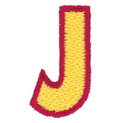 2 Color Alphabet J embroidery design