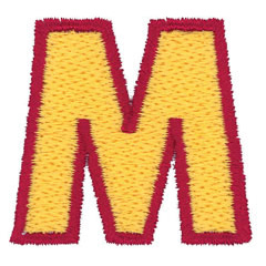 2 Color Alphabet M embroidery design