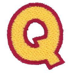 2 Color Alphabet Q embroidery design