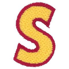 2 Color Alphabet S embroidery design