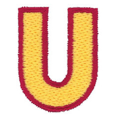 2 Color Alphabet U embroidery design