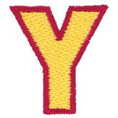 2 Color Alphabet Y embroidery design