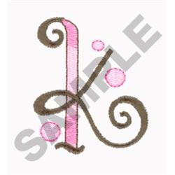 LETTER K embroidery design