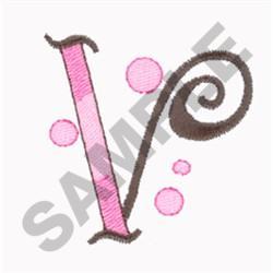 LETTER V embroidery design