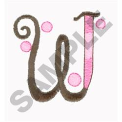 LETTER W embroidery design