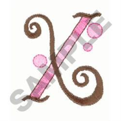 LETTER X embroidery design