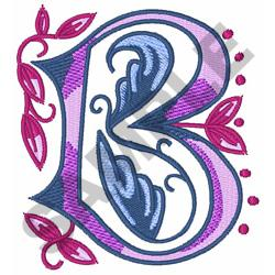 MONOGRAM ALPHABET B embroidery design