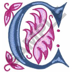 MONOGRAM ALPHABET C embroidery design