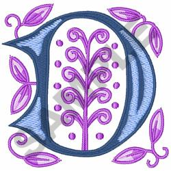 MONOGRAM ALPHABET D embroidery design