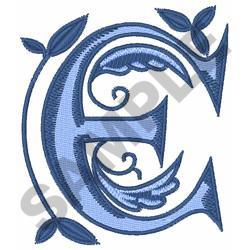 MONOGRAM ALPHABET E embroidery design
