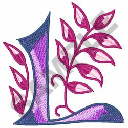 MONOGRAM ALPHABET L embroidery design