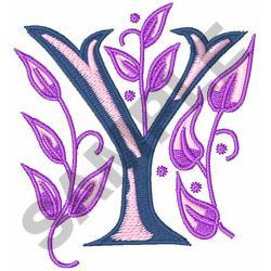 MONOGRAM ALPHABET Y embroidery design