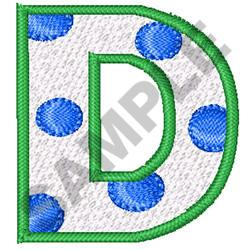 POLKA DOT ALPHABET D embroidery design