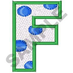 POLKA DOT ALPHABET F embroidery design