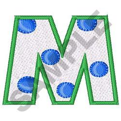 POLKA DOT ALPHABET M embroidery design