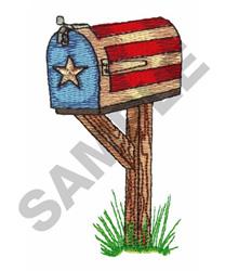 USA MAILBOX embroidery design