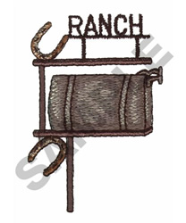 RANCH MAILBOX embroidery design