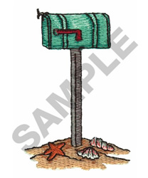 MAILBOX IN THE SAND embroidery design