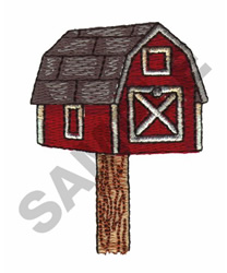 BARN MAILBOX embroidery design