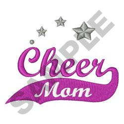 CHEER MOM STARS embroidery design