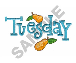 TUESDAY WITH PEARS embroidery design