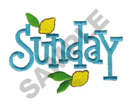 SUNDAY WITH LEMONS embroidery design