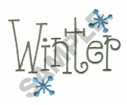 WINTER embroidery design