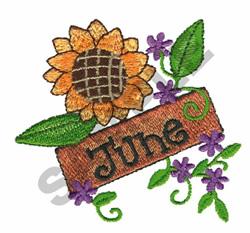 JUNE embroidery design
