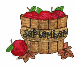 SEPTEMBER embroidery design