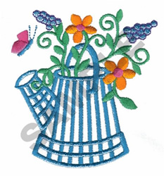 WATERING PAIL embroidery design