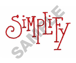 SIMPLIFY embroidery design