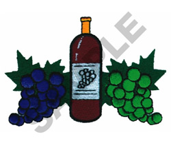 GRAPES AND WINE embroidery design
