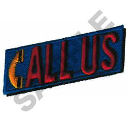 CALL US embroidery design
