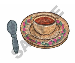 CUP OF TEA embroidery design