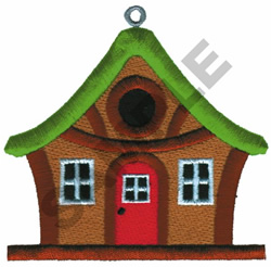 COTTAGE BIRDHOUSE embroidery design