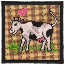 COW QUILT APPLIQUE embroidery design