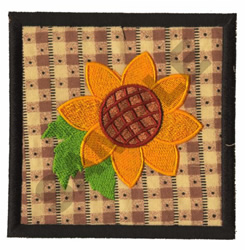 SUNFLOWER QUILT APPLIQUE embroidery design