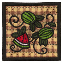 WATERMELON QUILT APPLIQUE embroidery design