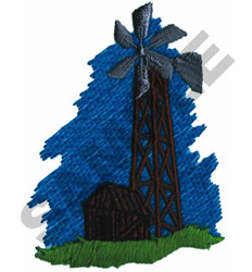 WINDMILL AND BARN embroidery design