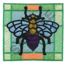 BUMBLEBEE PLAID embroidery design