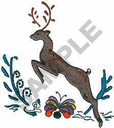 DEER MONOGRAM embroidery design