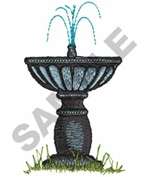 WATER FOUNTAIN embroidery design