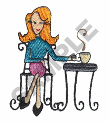 INDULGE YOURSELF embroidery design