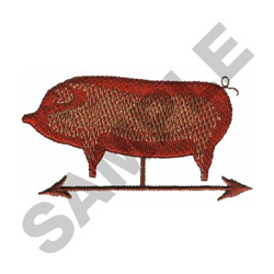 PIG WINDMILL embroidery design