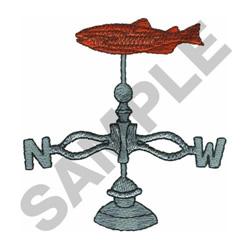 FISH WEATHER VANE embroidery design