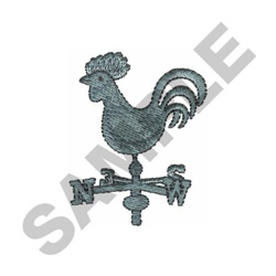 ROOSTER WEATHER VANE embroidery design