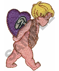 CUPID W/HEART ON BACK embroidery design