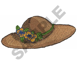 GARDEN HAT embroidery design